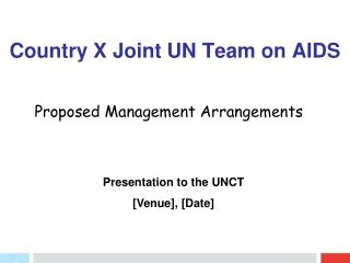 Country X Joint UN Team on AIDS