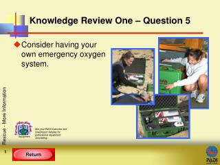 Knowledge Review One � Question 5