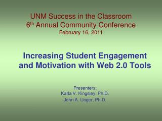 Increasing Student Engagement and Motivation with Web 2.0 Tools