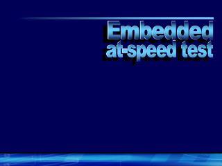 at-speed test