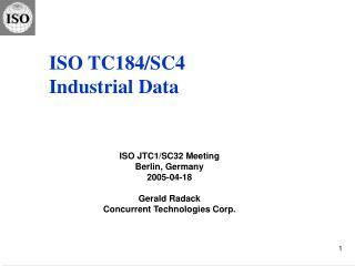 ISO TC184/SC4 Industrial Data