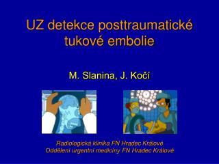 UZ detekce posttraumatick� tukov� embolie