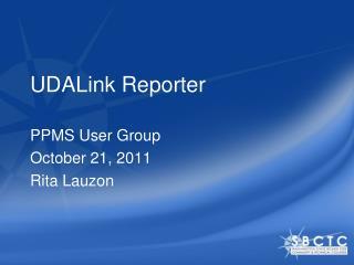 UDALink Reporter