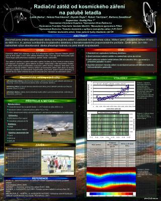 Radiační zátěž od kosmického záření  na palubě letadla