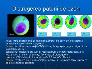 Distrugerea păturii de ozon