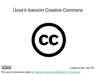 Úvod k licencím Creative Commons