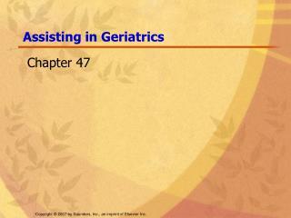 Assisting in Geriatrics