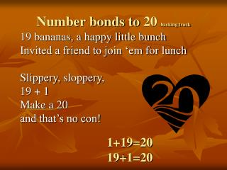 Number bonds to  20  backing track