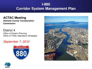 I-880 Corridor System Management Plan