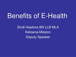 Benefits of E-Health