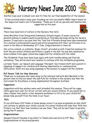 Nursery News June 2010