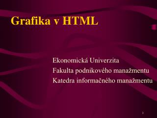 Grafika v HTML