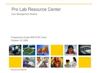Pro Lab Resource Center