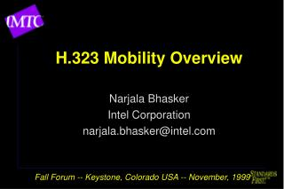H.323 Mobility Overview