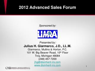 2012 Advanced Sales Forum