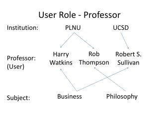 User Role - Professor