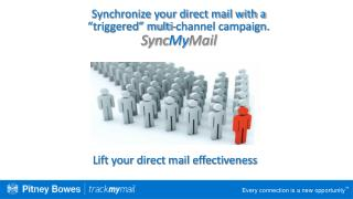 "Synchronize your direct mail with a  ""triggered"" multi-channel campaign.  Sync My Mail"