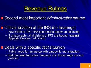 Revenue Rulings
