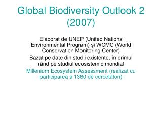 Global Biodiversity Outlook 2 (2007)