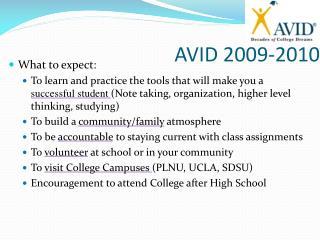 AVID 2009-2010