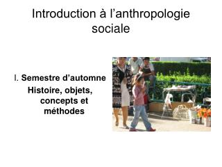 Introduction à l'anthropologie sociale