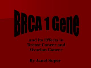 BRCA 1 Gene