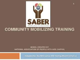 Community Mobilizing Training Model  created by National Association of People with AIDS (NAPWA)