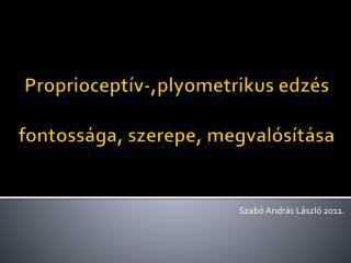Proprioceptív- , plyometrikus  edzés fontossága, szerepe, megvalósítása