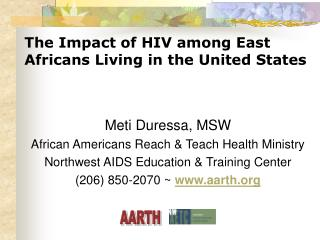 The Impact of HIV among East Africans Living in the United States