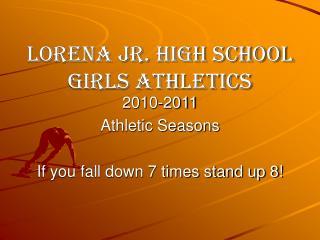 Lorena Jr. High School  Girls Athletics