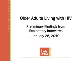 Older Adults Living with HIV