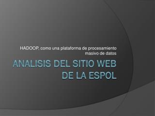 ANALISIS DEL SITIO WEB DE LA ESPOL