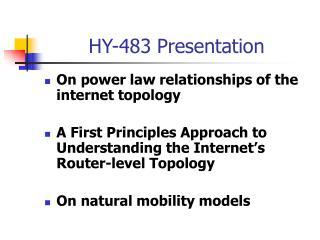 HY-483 Presentation