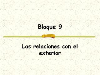 Bloque 9