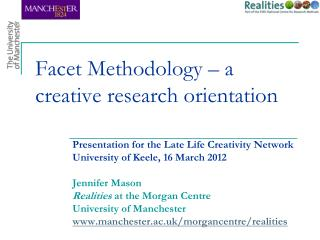 Facet Methodology – a creative research orientation