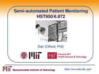 Semi-automated Patient Monitoring  HST950/6.872