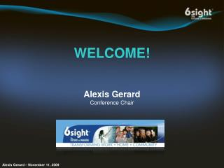 Alexis Gerard Conference Chair