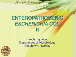 ENTEROPATHOGENIC ESCHERICHIA COLI II