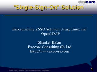 """Single-Sign-On"" Solution"