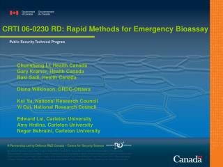 CRTI 06-0230 RD: Rapid Methods for Emergency Bioassay