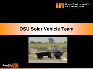 OSU Solar Vehicle Team