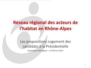 Réseau régional des acteurs de l'habitat en Rhône-Alpes