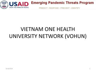VIETNAM ONE HEALTH UNIVERSITY NETWORK (VOHUN)