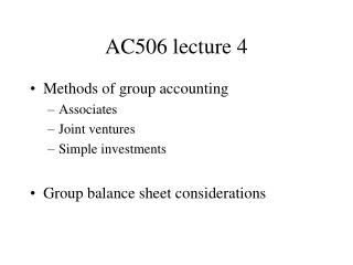AC506 lecture 4