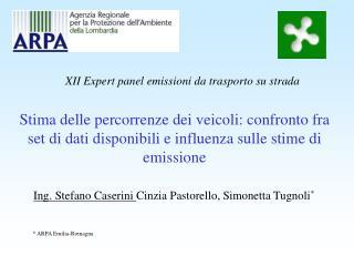 Ing. Stefano Caserini  Cinzia Pastorello, Simonetta Tugnoli *