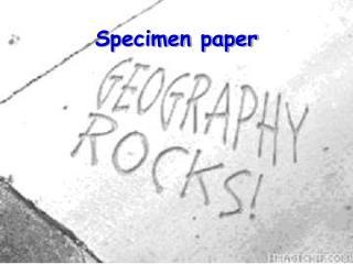 Specimen paper