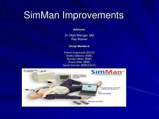SimMan Improvements