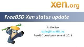 FreeBSD Xen status update