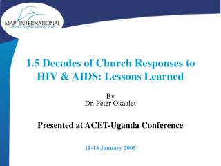 1.5 Decades of Church Responses to HIV & AIDS: Lessons Learned