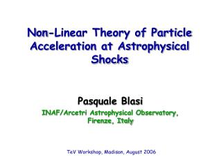 Non-Linear Theory of Particle Acceleration at Astrophysical Shocks